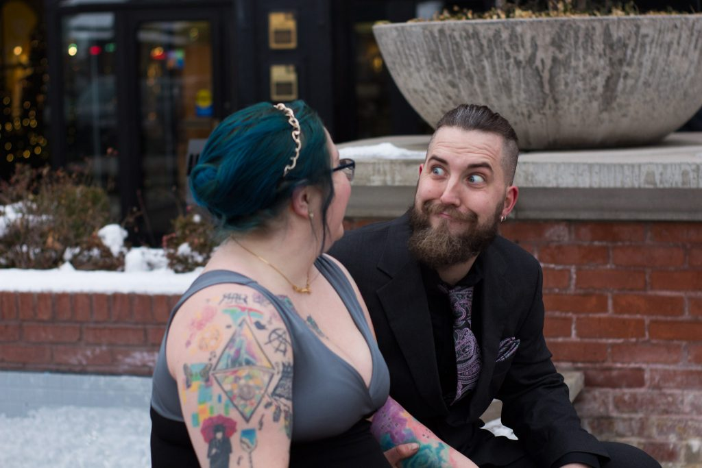 Chari Laree Photography - salt lake city photographer - couple laughing together
